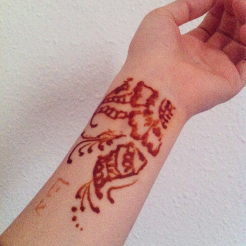 I got some henna done yesterday