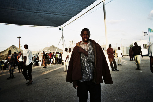 African refugees in detention camp, Israel 2010