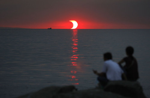 A sunset eclipse.