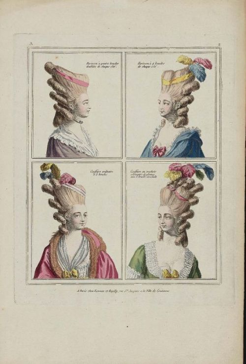 Gallerie des Modes, 1778.  (Deepest apologies for my absence, readers!  I started a new job this week and have been working like a fool, so my blogging time has been nil.  In addition, my internet at home is being weird so it's made keeping things updated challenging.  I'm trying!)