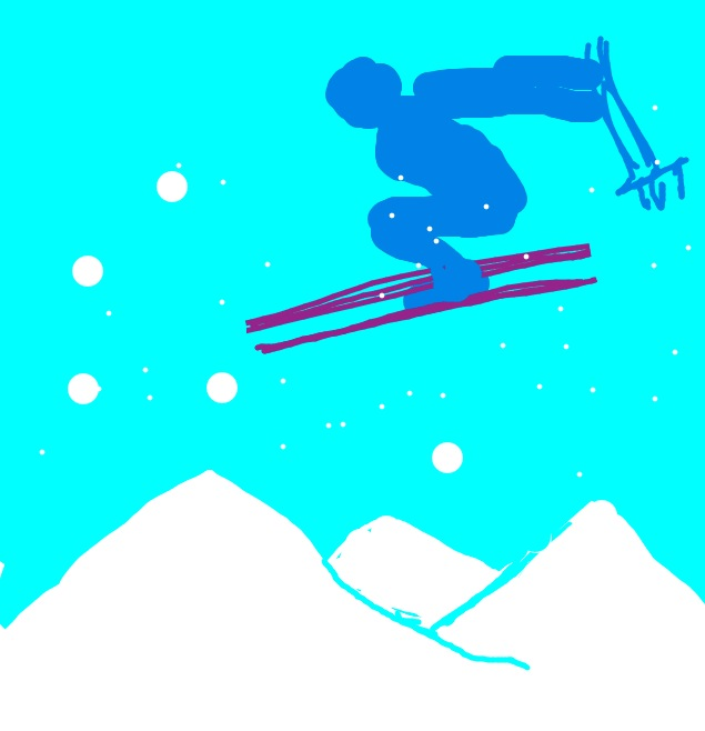 Skiing for Draw Something. Copied from posters.