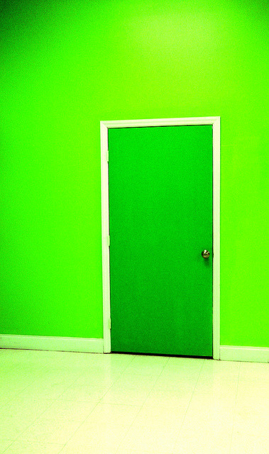 Green Door No. 1 on Flickr.