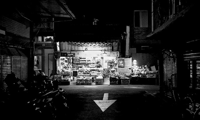 Small business on Flickr.Kodak Tmax400@1600,  Bessamatic deluxe Voigtlander