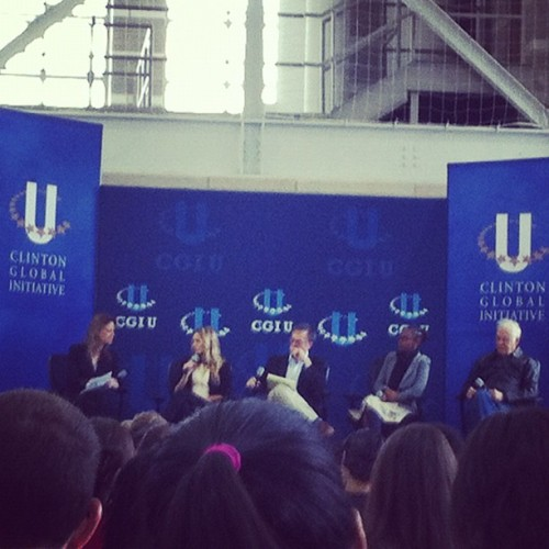 Listening to Kristen Bell talking about Invisible Children. #cgiu  #dreamscomingtrue (Taken with instagram)