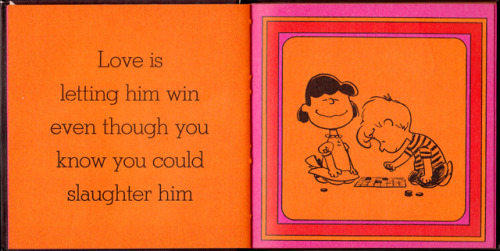 You're quite the catch, Mr. Schulz. A page from Charles M. Schulz's book, Love is Walking Hand in Hand (1965) (If you want more, check out http://www.brainpickings.org/index.php/2012/03/30/love-is-walking-hand-in-hand-schulz-peanuts/)
