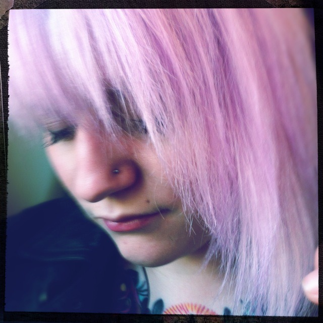 Shades of lilac.  Americana Lens, Big Up Film, No Flash, Taken with Hipstamatic