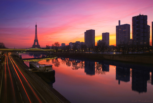 """Pont de Grenelle - Paris 6.53am"" by Cal Redback"