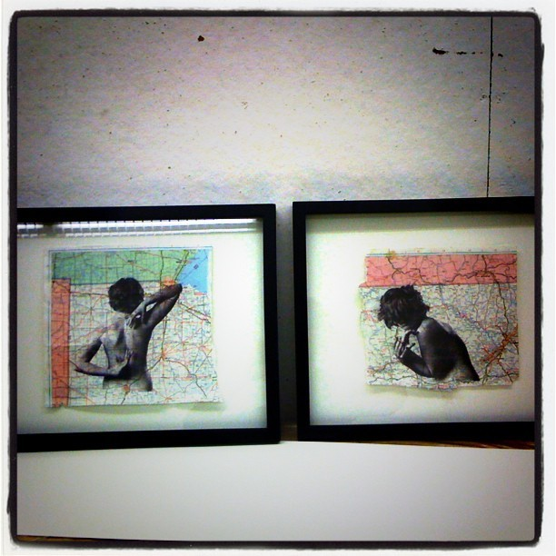 Framed some things yesterday for ArtUnleashed at @uarts ! (Taken with instagram)
