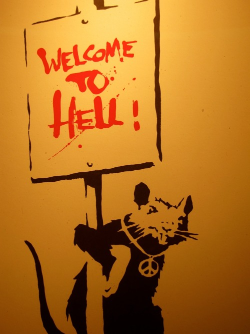 artruby:  Banksy, Welcome to Hell