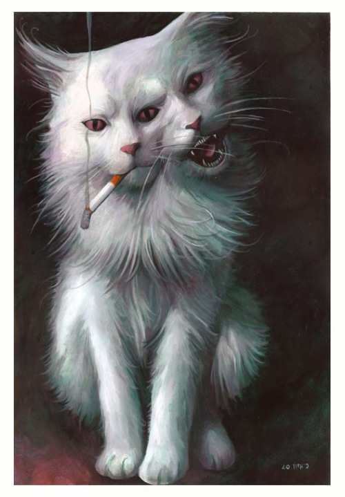 TransmetroCat. Smoking up all my smokes.  