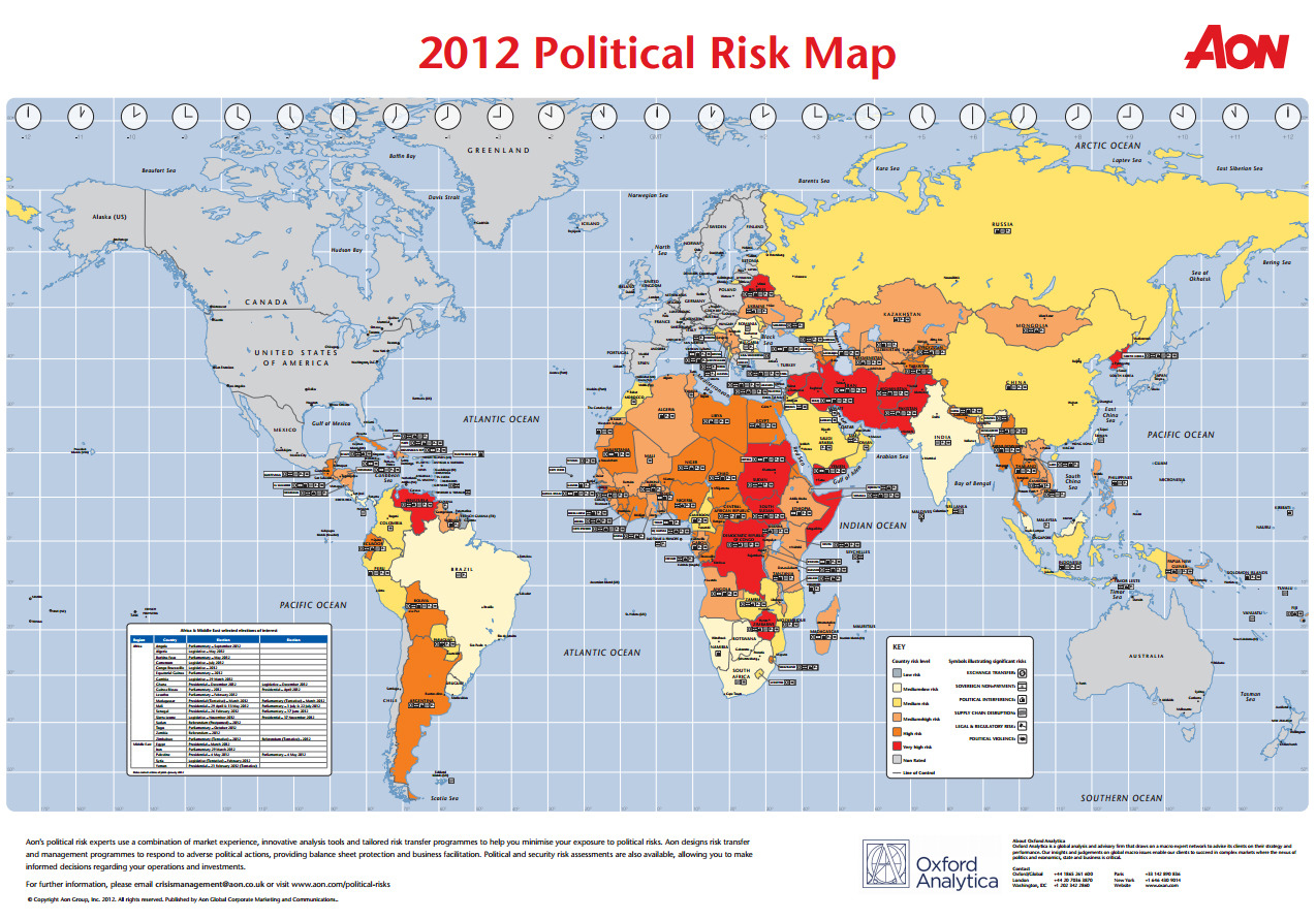 Political Risk Map 2012