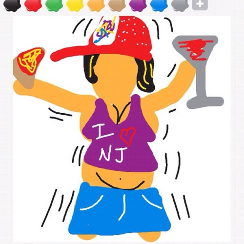 I think I'm getting good at this! #drawsomething #snooki  (Taken with instagram)