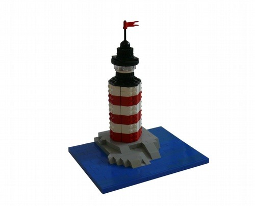(via Lighthouse Micro-scale: A LEGO® creation by Lego Builders : MOCpages.com)
