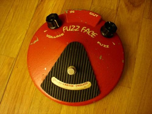 electricized:  Dallas Arbiter Fuzz Face 1966-1975 This stompbox is the iconic fuzz of the sixties. Many reissues exist, but the original production stopped in 1975. The simplicity of the circuit is, up to this date, a subject of admiration, especially when it has been (partly of course) responsible for the sound of Jimi Hendrix, Pete Townshend and David Gilmour. Hear it