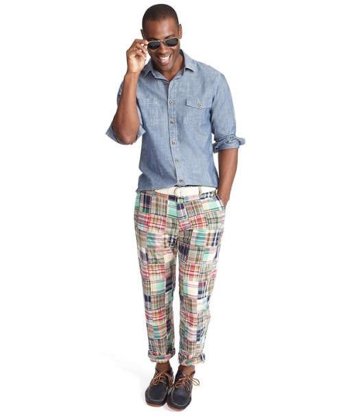 Brooks Brothers Patchwork Madras Pants