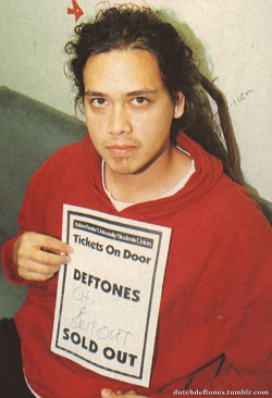 dutchdeftones:   Chi in MDH University, Manchester, UK on October 8th, 1997. Picture by Paul Harries.
