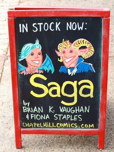 chapelhillcomics:  We still have copies of the sold out first print of Saga #1 in stock!