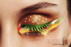 the-lynx:  Makeup inspired by Burger King for a European ad.