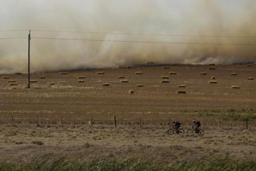 "Cape Epic 2012 - Stage 4: A Fire Rages In A Field As Riders Battle The Head Wind During Stage 4, Photos | Cyclingnews.com ""Epic"" is overused in cycling, but really, this race totally deserves it! More INCREDIBLE photos of the Cape Epic on Cyclingnews"