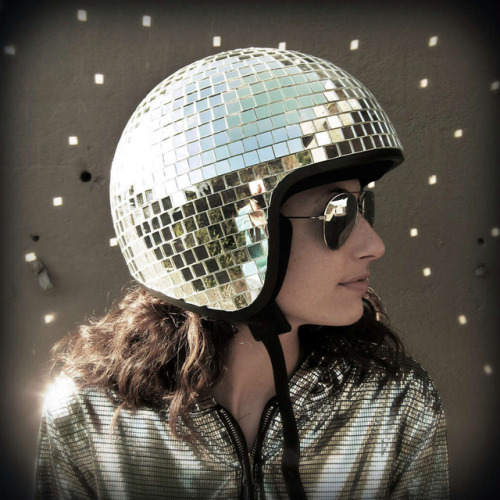 laughingsquid:  Disco Ball Helmet