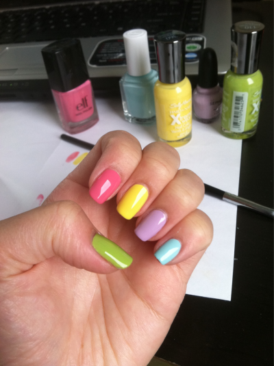 Testing out Easter colors
