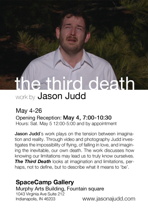My friend Jason's sure-to-be-amazing show, opening in Indiana on May 4. If you're in the area, GO.