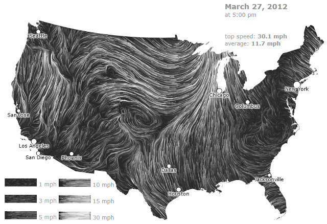 Real-Time Wind Maps