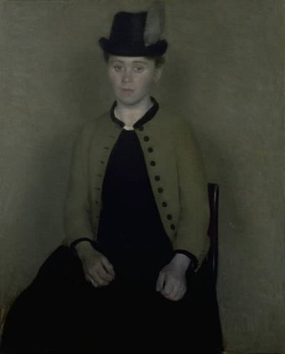 Ida Ilstedt, The fiancee of the artist Vilhelm Hammershøi