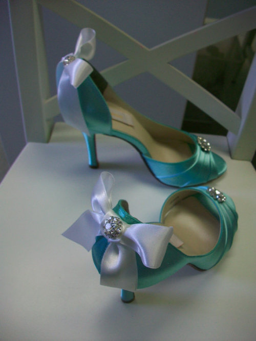 Tiffany Bow Blue Heels  http://www.etsy.com/listing/95035024/tiffany-blue-white-bow-wedding-shoes