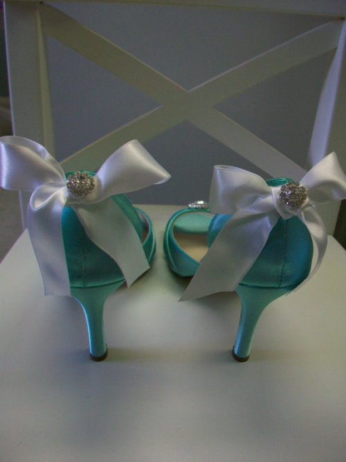 Different angle of the Tiffany Shoes  http://www.etsy.com/listing/95035024/tiffany-blue-white-bow-wedding-shoes