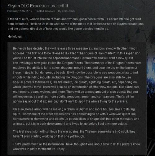 "ask-ulfricstormcloak:  ircimages:  Not sure if repost: Skyrim DLC info leaked from ex-Bethesda employee (possible spoilers)  ((Not sure if I buy this…))  (( this makes me skeptical, since i've seen tons of things like this happen with various games where a ""ex-employee"" or an ""insider employee"" leaks spoilers that dont even end up being true, but in any case, i really need this DLC in my life oh my goodness ;_; ))"