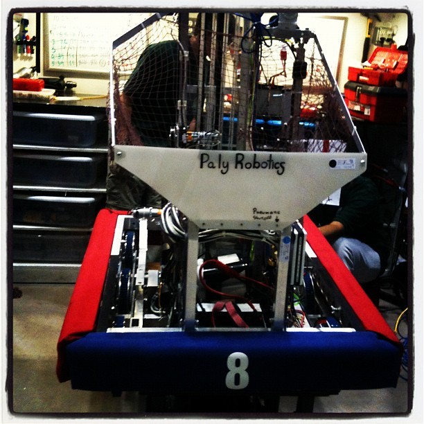 SRI-sponsored FIRST robot. (Taken with instagram)
