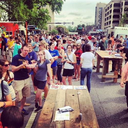 Food cart festival.  (Taken with Instagram at Downtown Athens)