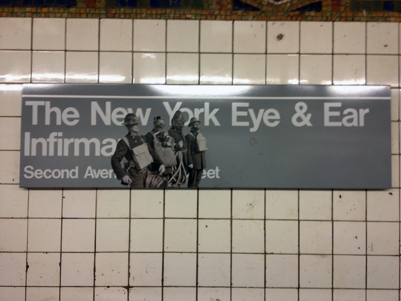 Nice paste-up at 1st ave. and 14th st. on the Brooklyn side of the L train.