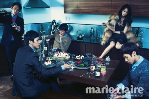 B2ST & Woori: Marie Claire December, 2010 **For more: B2ST & Woori