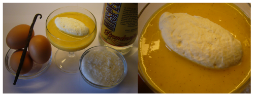 "Advocaat, a Dutch delicacy Made with yolks, sugar, brandy and vanilla. It is really easy to make and truly delicious! It is like Eggnog but flavoured with vanilla and without nutmeg. Did you know that the word ""brandy"" comes from the Dutch word ""brandewijn"" which means ""burnt wine"".Nice to make for Easter, but hey, do we need an excuse to make a brandy liquor? Recipe for Advocaat 200 gr   yolks 200 gr   sugar 200 ml  brandy (or 250 ml for a stronger Advocaat)1           vanilla bean Whisk the yolks, sugar and vanilla together and add the brandy. Whisk this mixture 'au bain marie' until it thickens. Cool the 'Advocaat' over an ice bath and it is ready. Serve with soft peak whipped cream. Happy Easter!"