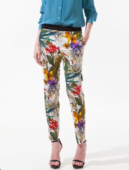 These make me want to get my hands on a pair of printed pants. From Zara.