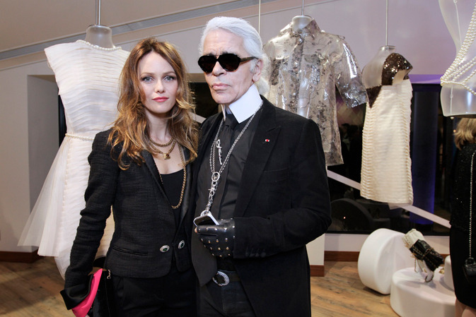 VANESSA PARADIS AND KARL LAGERFELD Where: March 24th  Opening of a NEW CHANEL Boutique TOKYO, JAPAN