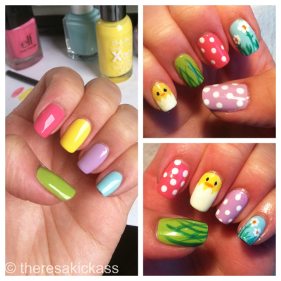 Finished product - Easter Nails!