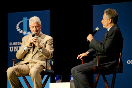 Watch the live stream of a conversation between President Bill Clinton and Jon Stewart at the Fifth Annual Clinton Global Initiative University Meeting.