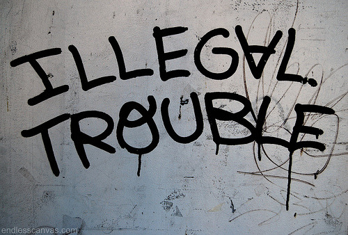 ILLEGAL TROUBLE Graffiti - Oakland, CA