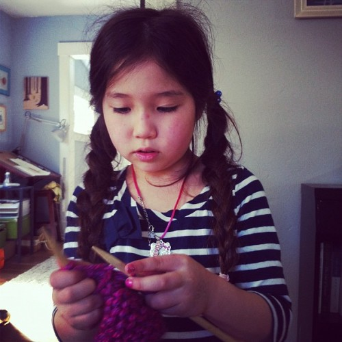 Little knitter (Taken with instagram)