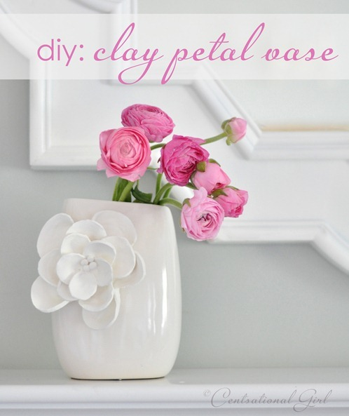 tutorial: clay floral embellishments via Centsational Girl