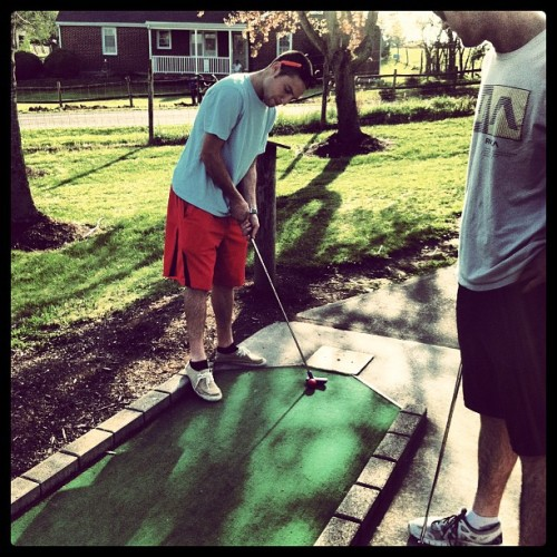 Perfect putt-putt weather  (Taken with instagram)