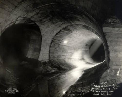 calumet412:  A section of the city's sewer system as it appeared in 1929. There are approximately 4200 miles of sewer lines beneath city, of which 1650 miles are a century or more older. This could present some pretty big problems in the near future…