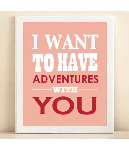 "Red and pink ""Adventures"" print poster by [amanda catherine] designs"