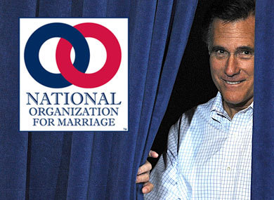 """Moron Of The Week"" Inductee Mitt ""Magic Underpants"" Romney Is A NOM's Donor The Advocate reports:  Mitt Romney has not only signed a pledge from the National Organization for marriage to fight for an amendment to the U.S. Constitution, he's also given money to the antigay group's efforts, according to a document circulated by the Human Rights Campaign.HRC posted a copy of a Federal Election Commission filing from the Alabama-based Free and Strong America PAC, run by the Romney presidential campaign in 2008. It shows a $10,000 donation to NOM that could be the very same contribution that a campaign spokesman once bragged would help fund the Proposition 8 battle that was happening at the time. The Huffington Post  reports that Romney spokesman Eric Fehrnstrom told Salt Lake City'sDeseret News in October 2008, ""The governor feels strongly that marriage is an institution between a man and a woman, and one of the most high-profile fights on this subject is happening in California."" He revealed that Romney had made a $10,000 donation, but until now there hasn't been any docmentation to confirm it — that is, if it's the same donation. As a donor and presumably a member of NOM, since a portion of all donations automatically goes toward membership dues, it's possible that the Romney campaign saw the ""confidential"" memo in which NOM outlines its strategy to ""drive a wedge between gays and blacks — two key Democratic constituencies."" HRC and others are calling on Romney to denounce NOM. But as a 2012 candidate he's signed a pledge from the group that commits him to its ideals, including a ban on marriage equality via an amendment to the U.S. Constitution, an effort to repeal marriage equality in Washington, D.C., and the formation of a presidential commission to investigate NOM's opponents. ""The evidence continues to pile up and is painting a very clear picture of Mitt Romney's anti-LGBT associations,"" the HRC said in announcing the document. ""A candidate can't claim to be 'better for gay rights than [Ted] Kennedy' when it's convenient, but then fund a far-right anti-LGBT strategy to keep other interest groups happy."""