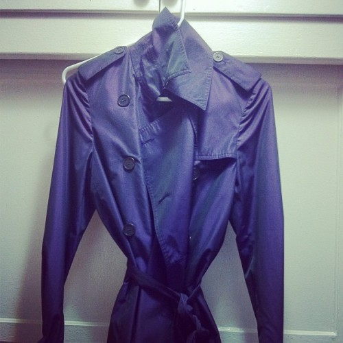 Burberry rain trench.  Size US4 - pretty purple!  Cleaning out my closet.  $150 (Taken with instagram)