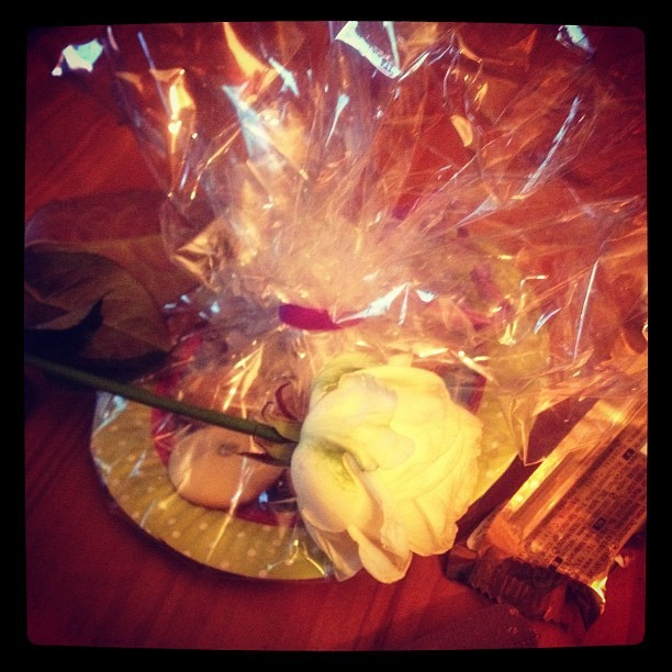 Flowers and chocolate for my birthdat