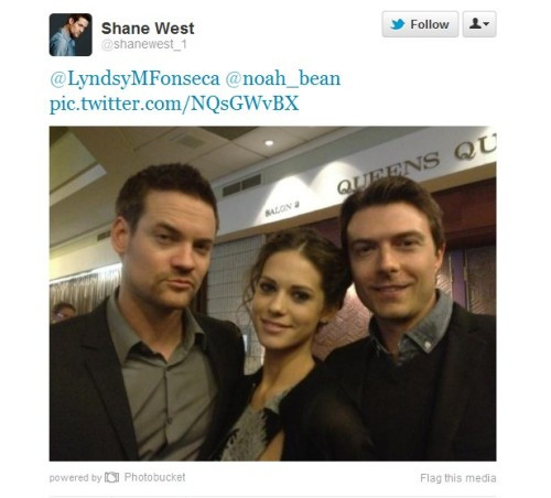 Shane West, Lyndsy Fonseca and Noah Bean. from @shanewest_1